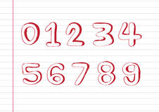 Sketch numbers 0-9 Royalty Free Stock Photo