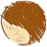 Sketch of a nut isolated illustration Stock Photo
