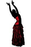 Sketch Of A Girl In Dance Pose Flamenco Stock Image