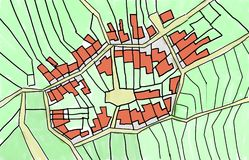 Sketch Of An Inner Part Of A Village Royalty Free Stock Images