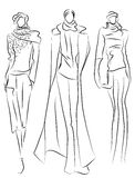Sketch Of Fashion Suits Royalty Free Stock Photos