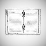 Sketch Of Notebook. Royalty Free Stock Photos