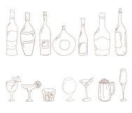 Free Sketch Of Wine Bottles. Stock Image - 45763251
