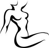 Sketch Of Woman Torso Stock Photo