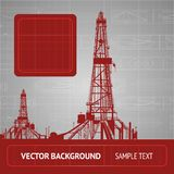 Sketch of oil rig Stock Photo