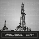 Sketch of oil rig Stock Images
