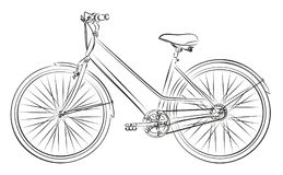 Sketch of the old bicycle. Stock Photos