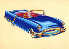 Sketch of a old car Royalty Free Stock Photography