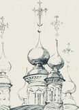 Sketch of an old church Stock Images