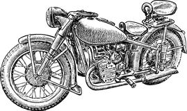Sketch of an old motorbike Stock Photo