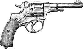 Sketch of an old revolver Stock Photos