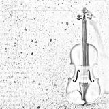 The sketch of an old violin Royalty Free Stock Image