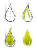 Sketch of olive oil drop. Vector-Illustration Stock Image