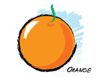 Sketch of an orange Royalty Free Stock Photo