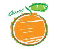 Sketch of an orange Stock Image