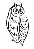 Sketch of an owl bird Stock Photos