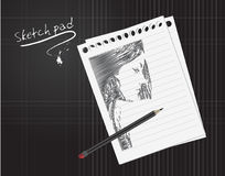 Sketch pad. An illustration of a sketch pad Stock Photo