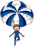 A sketch of a parachute with a boy Royalty Free Stock Photo