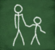 Sketch of parent and child Stock Photography