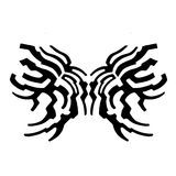 A sketch of the pattern. The symbol of fire or wings on a white background Royalty Free Stock Photography