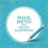 Sketch pencil drawing. Vector doodles. Royalty Free Stock Photography