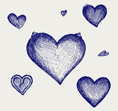 Sketch pencil. Heart Royalty Free Stock Images
