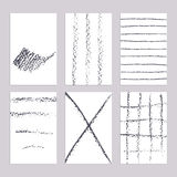 Sketch pencil line banners Royalty Free Stock Photography