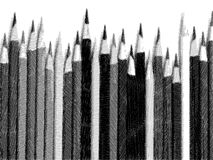 Sketch of pencil. Pencil style of Sketch pencil in BW Stock Images