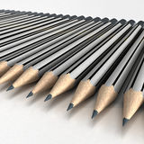 Sketch pencils arrangement Royalty Free Stock Photo