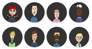 Sketch people icons Royalty Free Stock Images