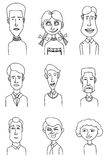 Sketch people icons Stock Images