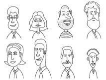 Sketch people icons Stock Photography