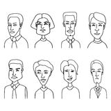 Sketch people icons. Stock Images