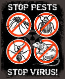 Sketch Pest Control Insect Poster Stock Image