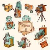 Sketch Photo Colored Set Stock Photos
