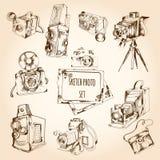 Sketch Photo Set Royalty Free Stock Photo