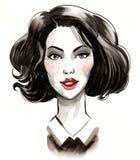 sketch piękna kobieta obraz royalty free