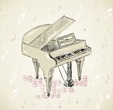 Sketch Piano Stock Image