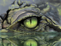 Sketch picture eye of crocodile vector illustration