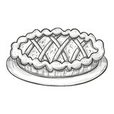 Sketch pie Royalty Free Stock Photography