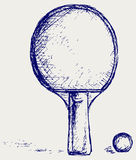 Sketch ping pong Stock Images