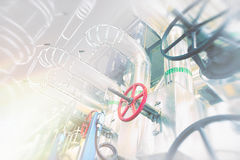 Sketch of piping design concept. Motion blur effect Stock Photos