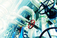 Sketch of piping design mixed to industrial equipment photo Royalty Free Stock Images