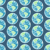 Sketch planet Earth in vintage style Stock Photography