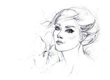 Sketch for a portrait Royalty Free Stock Photography