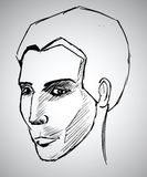 Sketch portrait of a man. Vector illustration. This is file of EPS10 format Stock Photography