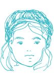 Sketch for a portrait of a young beautiful girl Royalty Free Stock Photos