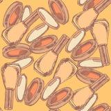 Sketch powder compact and nail polish Stock Photo