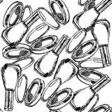 Sketch powder compact and nail polish Royalty Free Stock Image