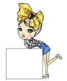 Sketch pretty girl Stock Photos